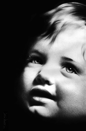 Charcoal Portrait of a Child